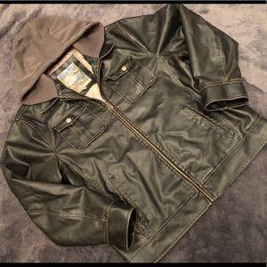 Brave Soul Leather Bomber jacket Men's size XL